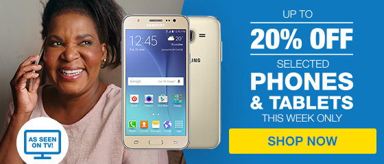 UP TO 20% OFF PHONES & TABLETS (TVC)