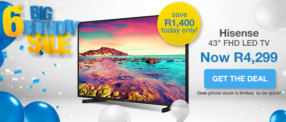 BIRTHDAY DAILY DEAL: HISENSE TV