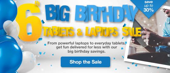 BIG BIRTHDAY: Laptops