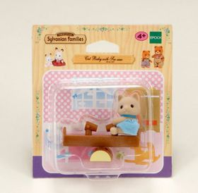 Sylvanian Family - Cat Baby with Seesaw