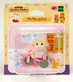 Sylvanian Family Sheep Baby with Tricycle