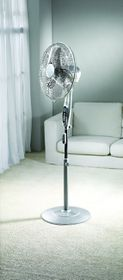 Kenwood - Remote Pedestal Fan Timer Function - Silver - IF660