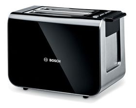 Bosch - Styline 860W Toaster - Black/ Stainless Steel