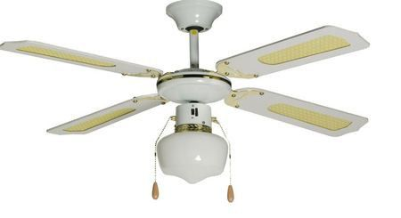 Ideal 105cm 1 light ceiling fan white 6001889002257 buy ideal 105cm 1 light ceiling fan white loading zoom aloadofball Image collections