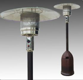 Alva - Powder Coated Patio Heater - with Rattan cylinder cover