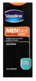 Vaseline - Face Moisturiser, Hydrate & soothe For Men - 50ml (Tube)