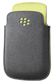 BlackBerry 9320 - Microfiber Pocket - Grey and Spring Green