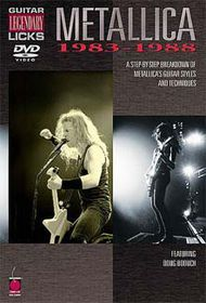 Metallica-Guitar Licks 83-88 - (Import DVD)