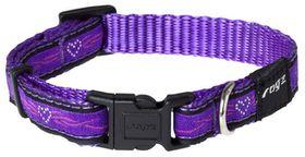 Rogz - Fancy Dress Dog Collar - Purple Chrome