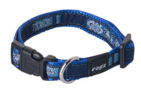 Rogz - Fancy Dress Dog Collar - Indigo Bone