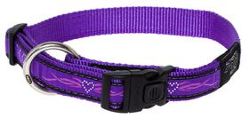 Rogz - Fancy Dress 20mm Dog Collar - Purple Chrome