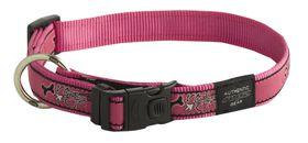 Rogz - Fancy Dress 20mm Dog Collar - Pink Bone