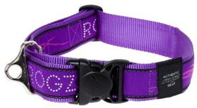 Rogz - Fancy Dress 40mm Dog Collar - Purple Chrome