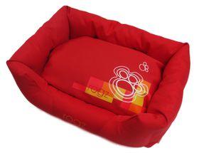 Rogz - 56cm x 35cm x 22cm Dog Bed - Tango Paws on Red