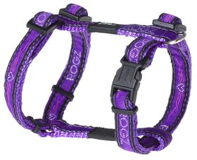 Rogz - Fancy Dress 11mm Dog H-Harness - Purple Chrome