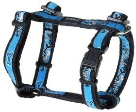 Rogz Fancy Dress Small Jellybean Dog H-Harness - Turquoise