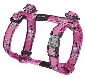 Rogz - Fancy Dress Dog H-Harness - Pink Bone