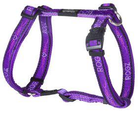 Rogz - Fancy Dress 20mm Dog H-Harness - Purple Chrome