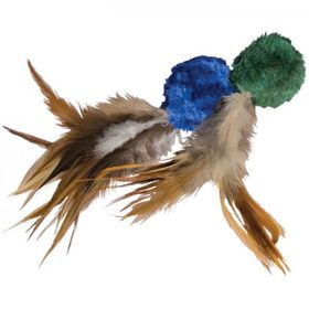 Kong -  Cat Toy Naturals Crinkle Ball With Feathers - 2 Pack