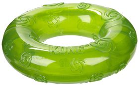 Kong -  Dog Toy Squeezz Ring - Large - (Colours May Vary)
