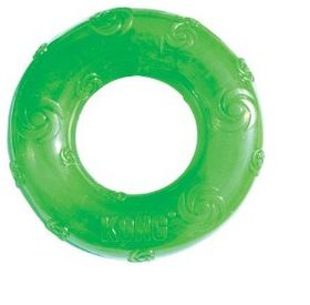 Kong -  Dog Toy Squeezz Ring - Medium - (Colours May Vary)