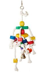 Marltons - Bird Toy Wood Blocks With Ropes and Bell