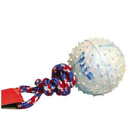 Marltons - Dog Toy Pimple Ball On Rope - 6cm
