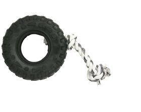Marltons - Dog Toy Tyre On Rope - 20cm