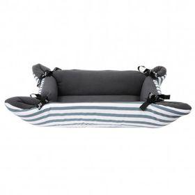 Wagworld - Midi Cupcake Dog Bed - Grey Stripe