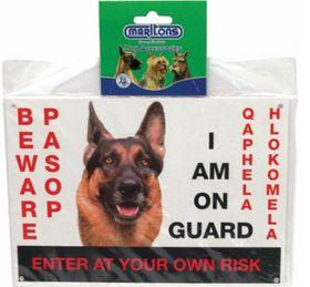 Marltons - Beware Of The Dog Sign - Alsatian