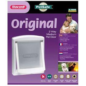 Staywell - Original 2 Way Pet Door 700 Series Flap - Medium (35.2cm x 29cm) - White