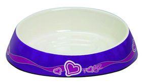 Rogz - Bowlz 200ml Fishcake Bowl - Purple Hearts