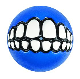 Rogz - Dog Ballz Grinz Treat Dispenser - 6.4cm - Blue