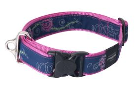 Rogz - Fancy Dress 2 x Extra-Large Special Agent Dog Collar - Navy & Pink
