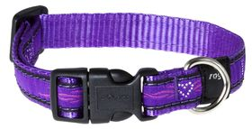 Rogz - Fancy Dress 16mm Dog Collar - Purple Chrome