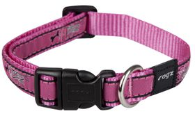 Rogz - Fancy Dress 16mm Dog Collar - Pink Bone