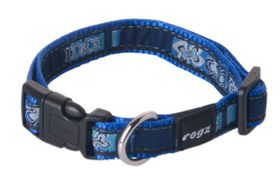 Rogz - Fancy Dress 16mm Dog Collar - Indigo Bone