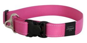 Rogz - Utility 2 x Extra-Large Landing Strip Dog Collar - Pink
