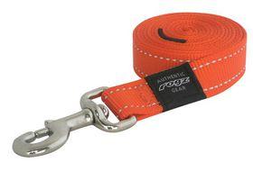 Rogz - Utility Medium Snake Dog Fixed Lead - Orange