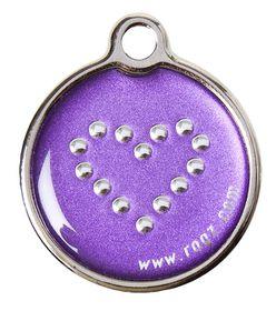Rogz - ID Tagz 20mm Metal Tag - Purple Chrome