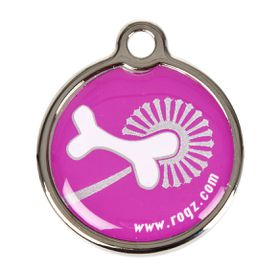 Rogz - ID Tagz 20mm Metal Tag - Pink Bone