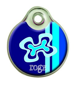 Rogz - Self-Customisable Small Resin ID Tag - Navy