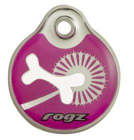 Rogz - ID Tagz 34mm Instant Resin Tag - Pink Bone