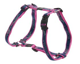 Rogz - Fancy Dress 16mm Dog H-Harness - Denim Rose