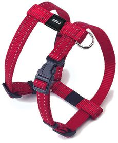Rogz - Utility Small Nitelife Dog H-Harness - Red