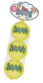 Kong -  Dog Toy Airdog Squeakair 3 Pack - Extra-Small - Yellow
