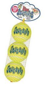 Kong -  Dog Toy Airdog Squeakair Tennis Ball 3 Pack - Extra-Small - Yellow