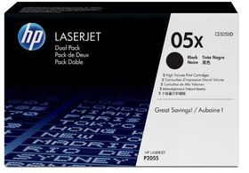 HP No. 05X Black Print Cartridge - Dual Pack