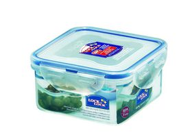 Lock and Lock - Square Food Storage Container - 420ml