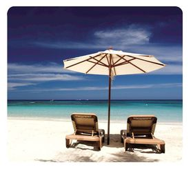 Fellowes Earth Mouse Pad - Beach Chairs